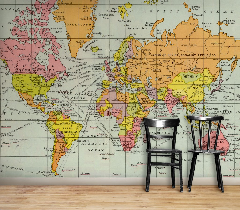 Antique world map wallpaper wallpapersafari vintage world map hd wallpaper 1024x893 gumiabroncs Images