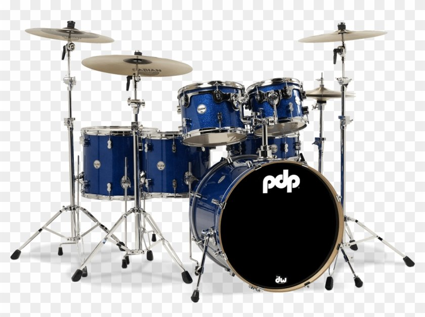Drums Png Transparent Background   Pdp Blue Drum Set Png Download 840x628