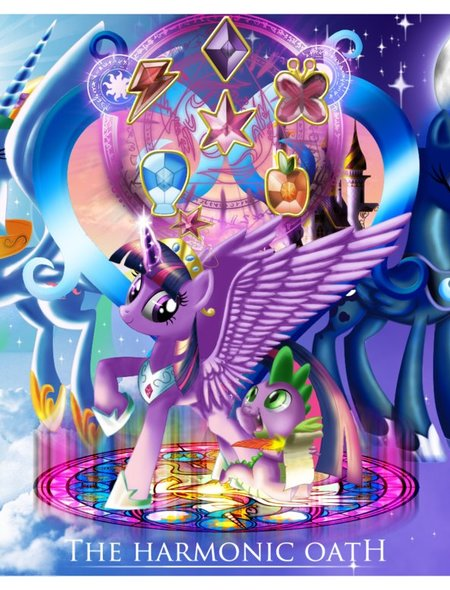My Little Pony   The Harmonic Oath Wallpaper for Amazon Kindle Fire HD 450x590