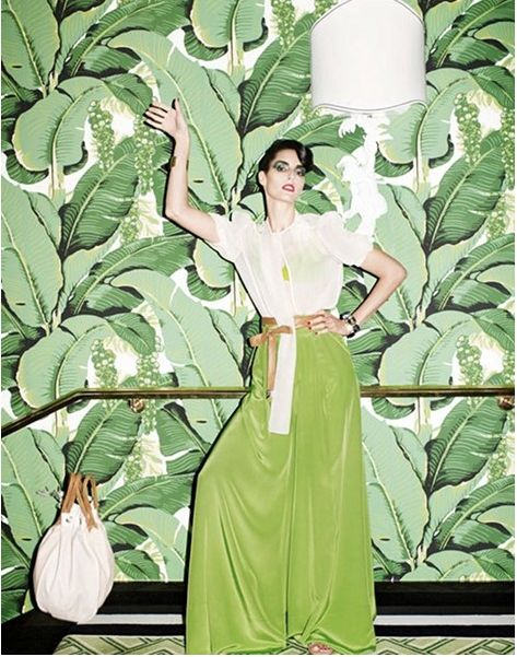 Martinique Banana Leaves Wallpaper Home Decor Pinterest 473x601