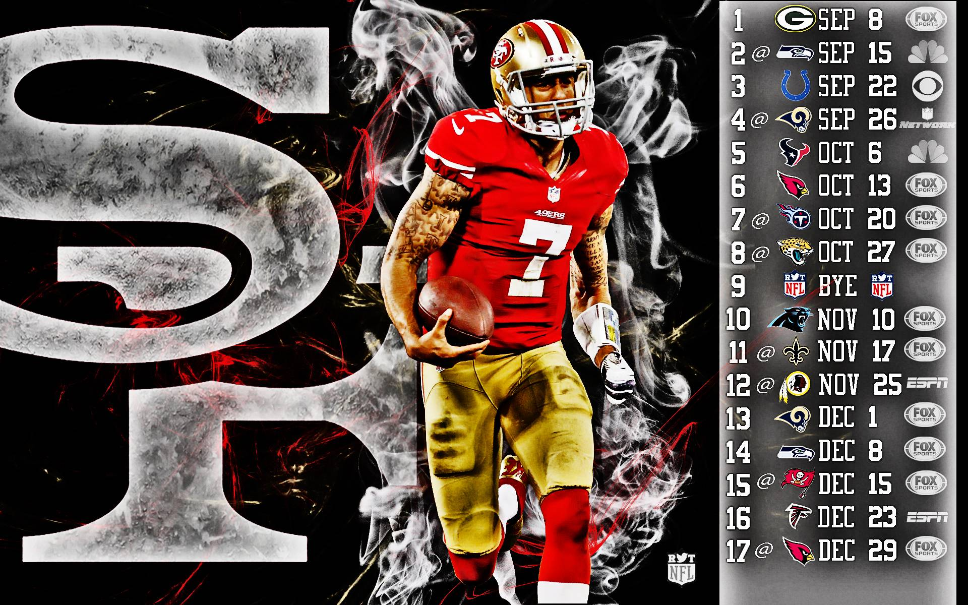 Colin Kaepernick 49ers Wallpapers 1920x1200