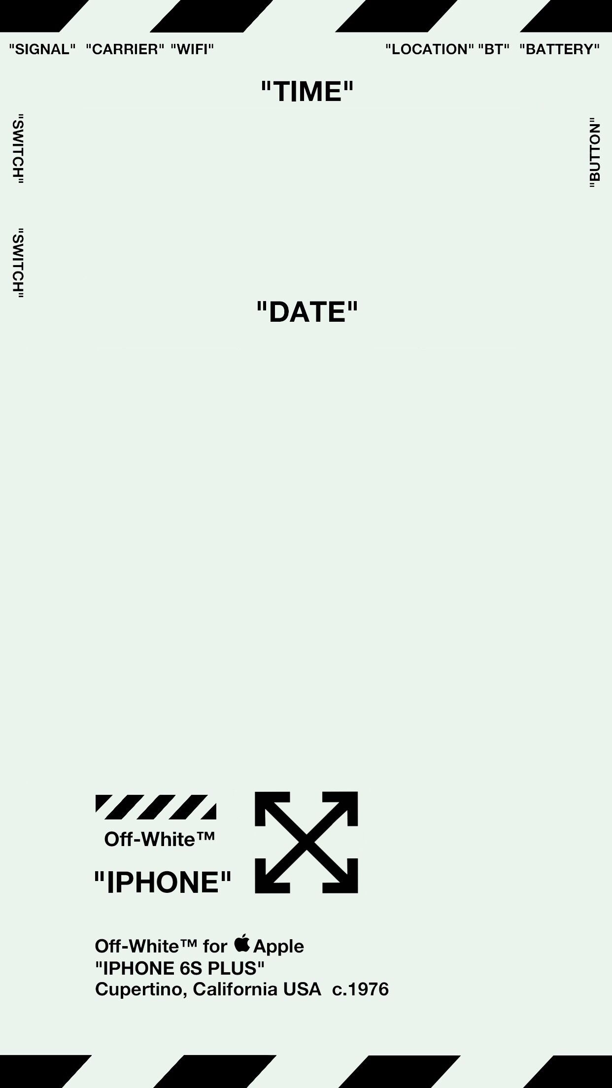 Off White Lock Screen Wallpaper ver 1 MINT GREEN Specifically 1242x2208