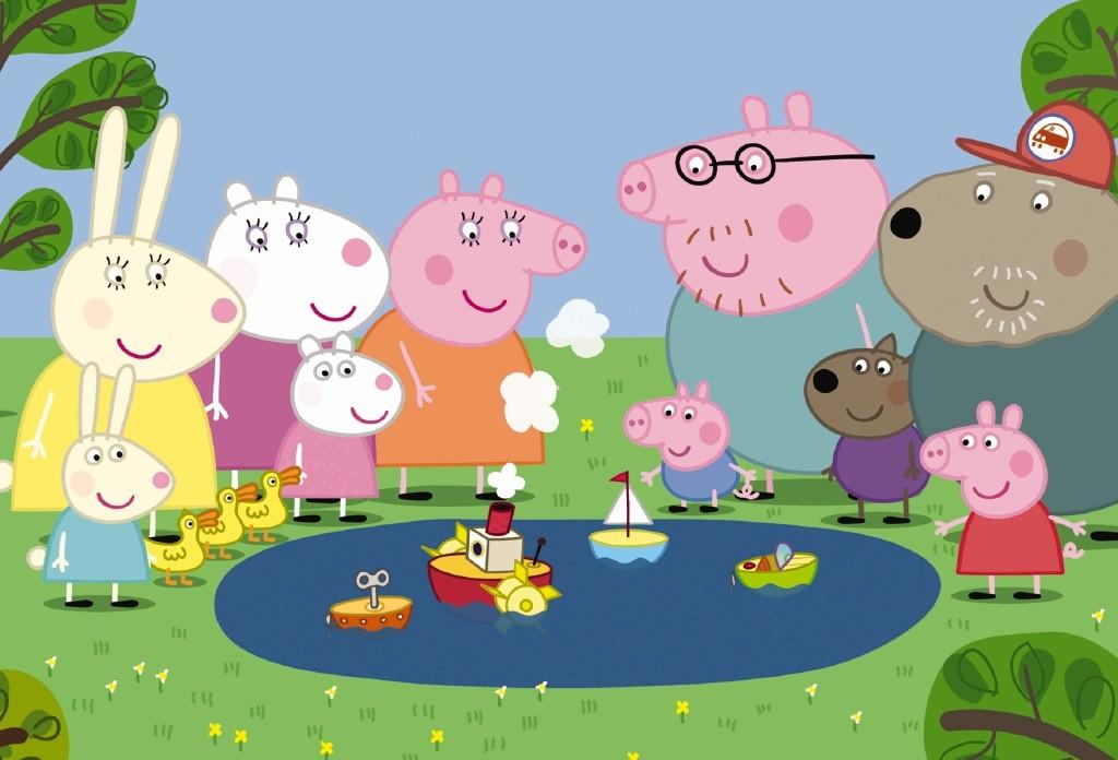 Peppa Pig Family and Friends Wallpaper1 1024x696
