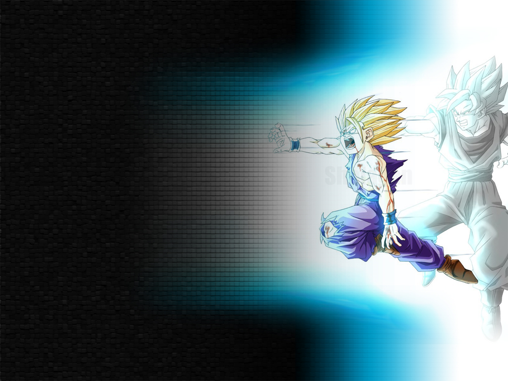 DRAGON BALL Z WALLPAPERS Teen Gohan super saiyan 2 1024x768