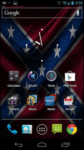 View bigger   Rebel Flag Live Wallpaper for Android screenshot 288x512
