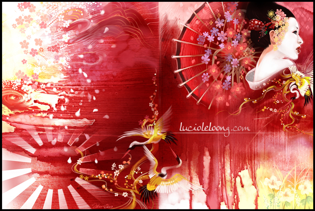 Japan Wallpapers and Images: More Japanese Geisha Wallpapers