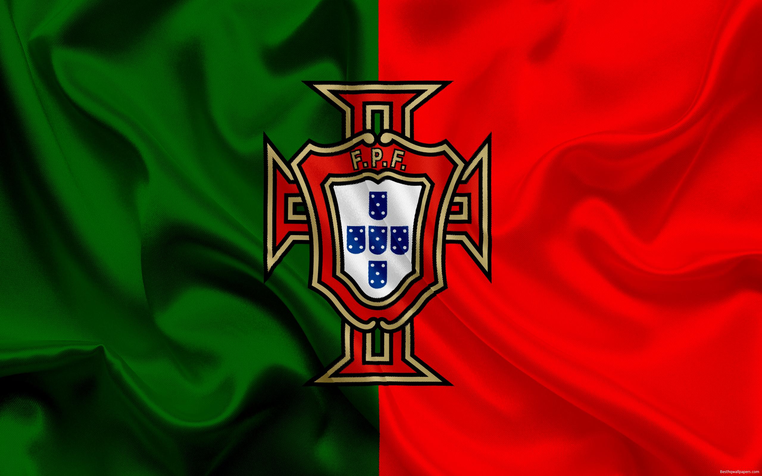 Download wallpapers Portugal national football team emblem logo 2560x1600