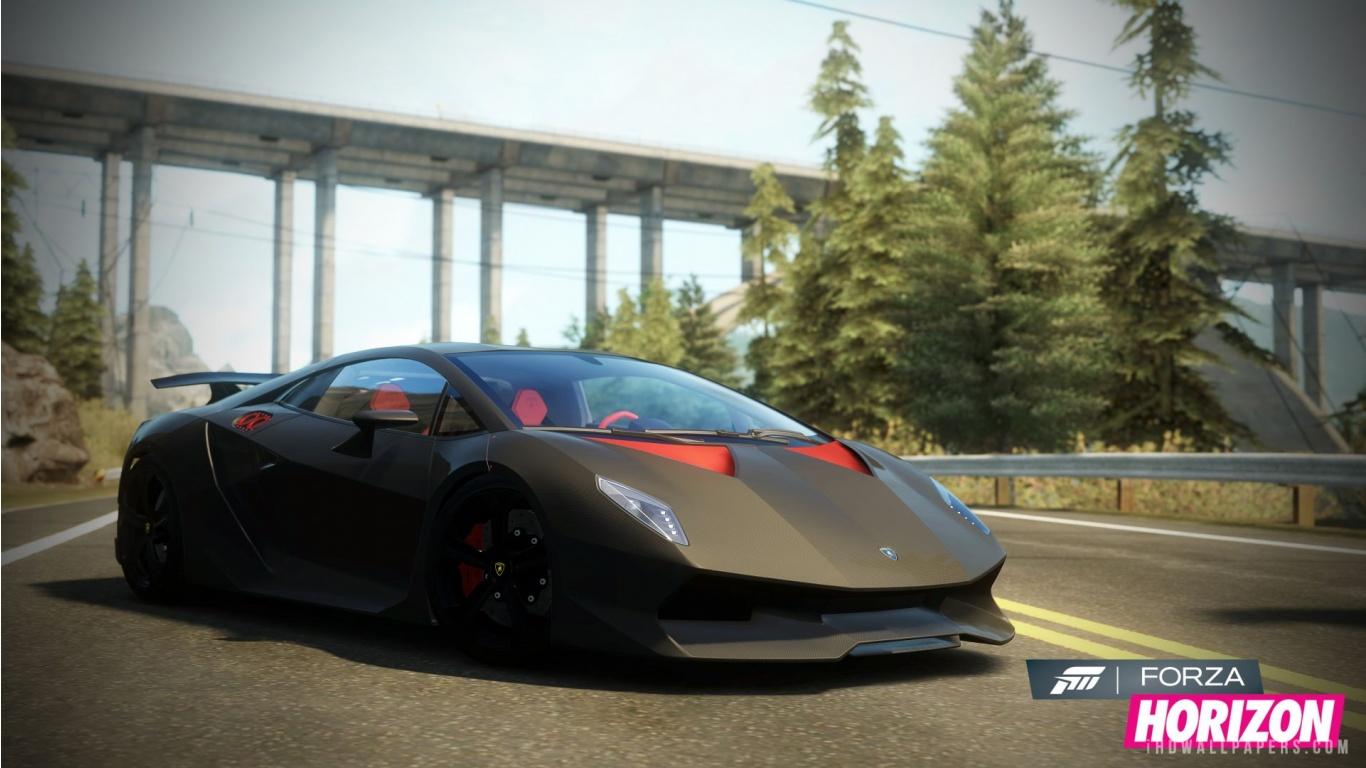 Lamborghini Sesto Elemento in Forza Horizon Wallpaper 1366x768