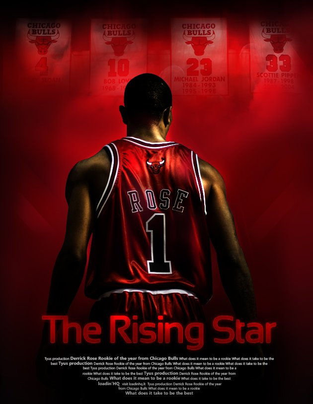Derrick Rose poster by rokasm httpballislifecom 630x814