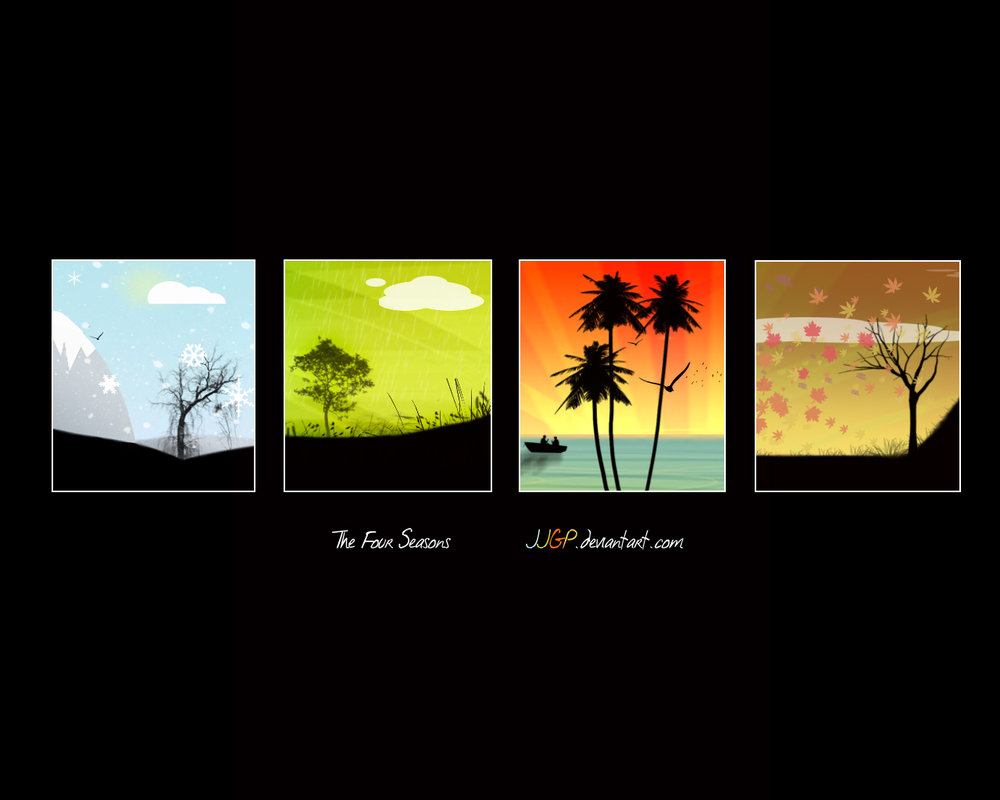 The 4 seasons wallpaper by JJGP 1000x800