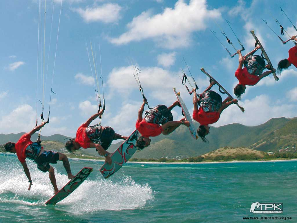 kitesurfing wallpaper. Tropical Paradise Kitesurfing Wallpapers