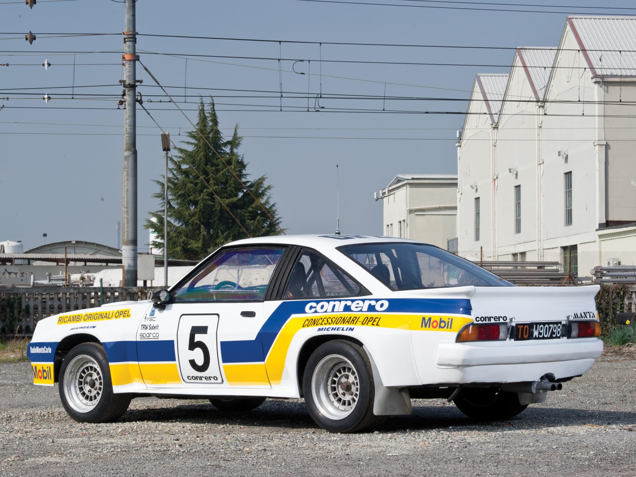 1981 Opel Manta 400 Group B Rally race racing h wallpaper background 2048x1536