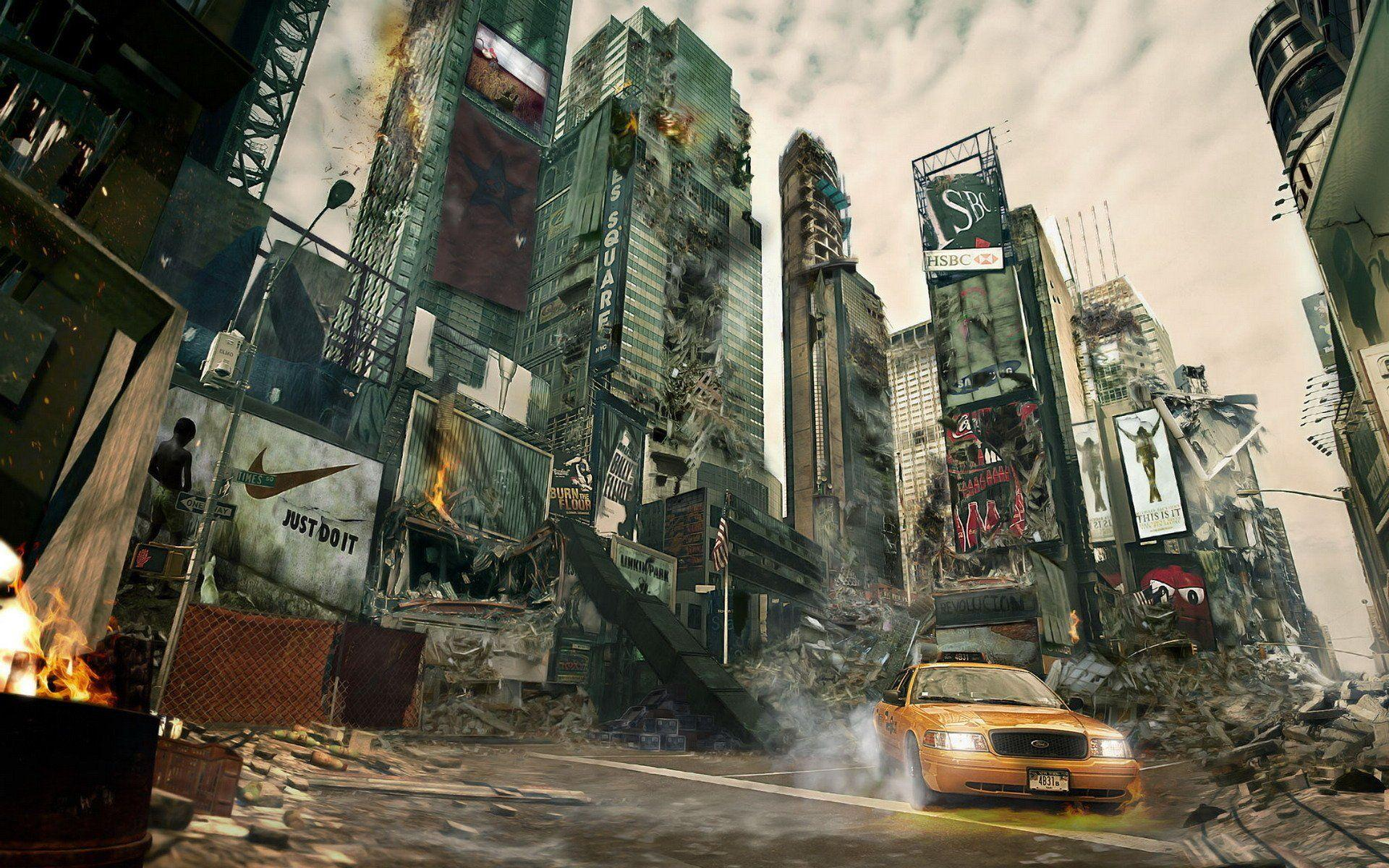 Destroyed City Backgrounds 1920x1200