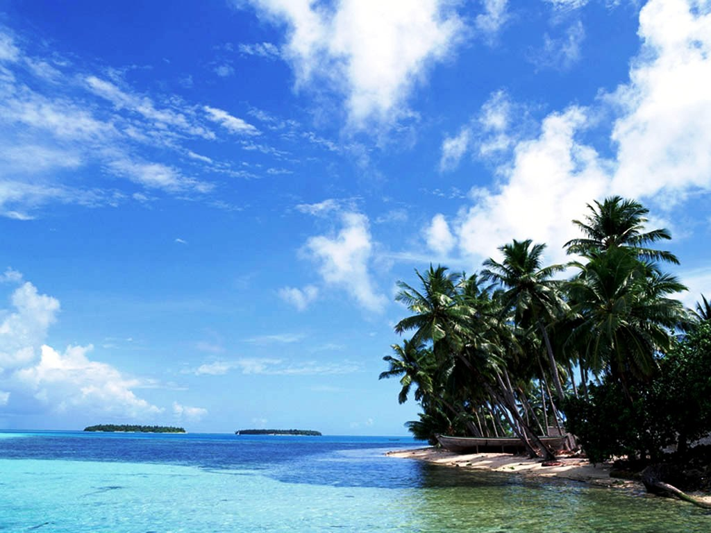 ... PC Looks More Peaceful : Beach Scene Desktop Wallpaper, Tropical Beach