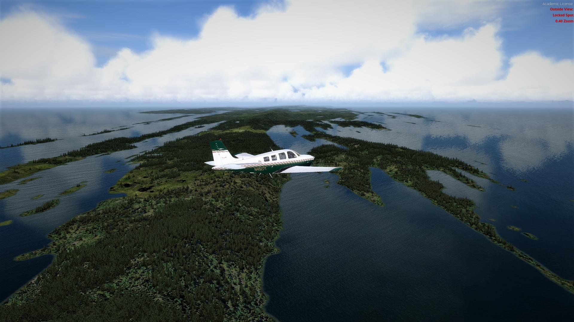 Morning flight over Isle Royale National Park flightsim 1920x1080