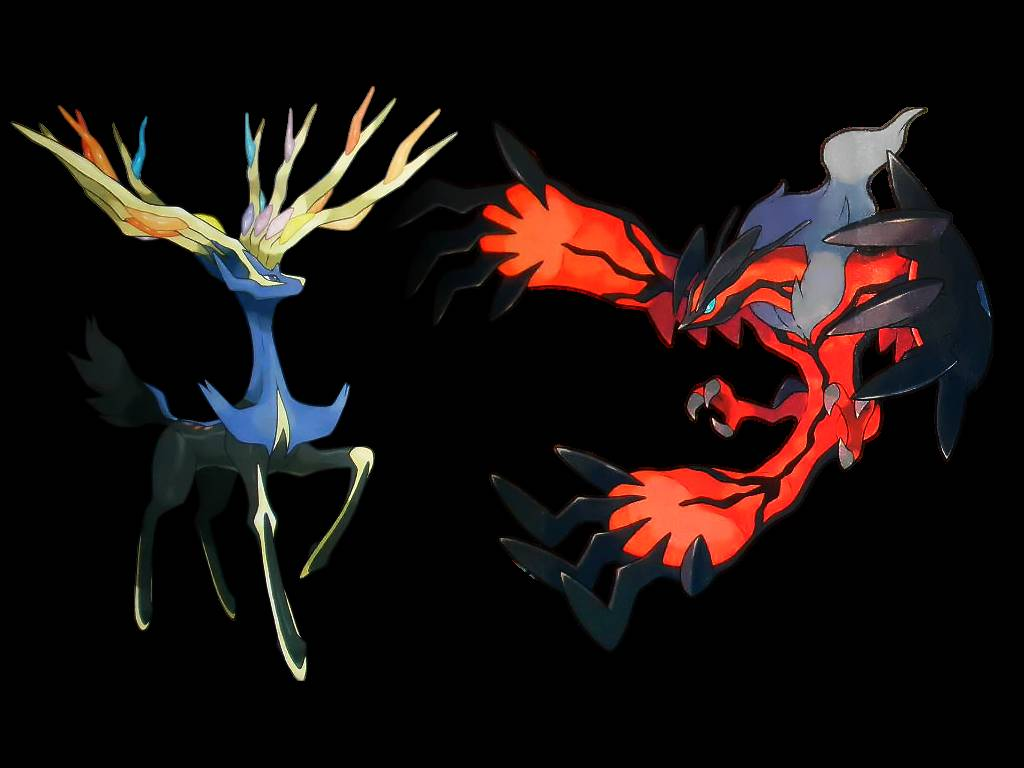 Xerneas and Yveltal legendary pokemon   Pokemon Wallpaper 1024x768