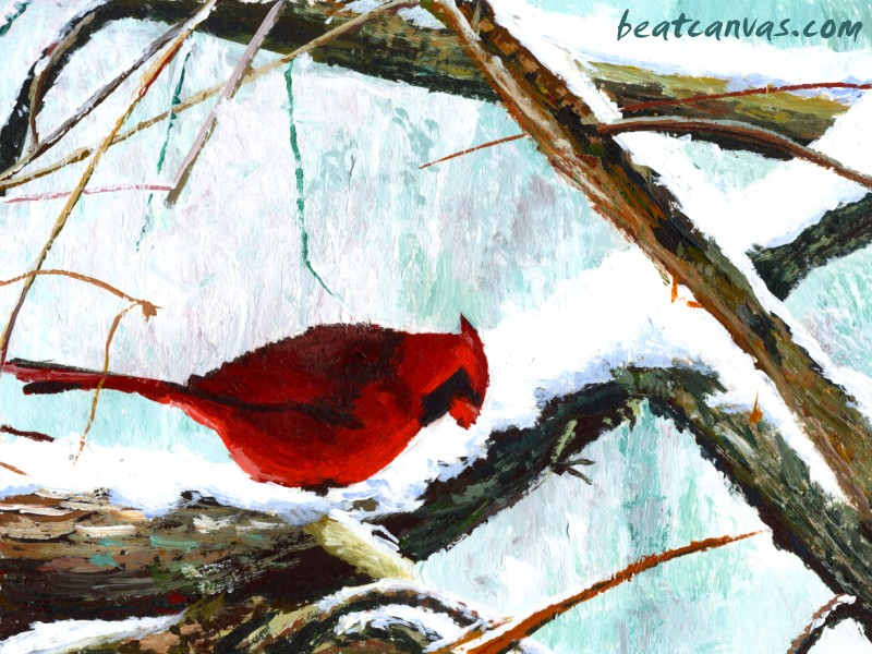 [42+] Cardinal Wallpaper Winter On WallpaperSafari