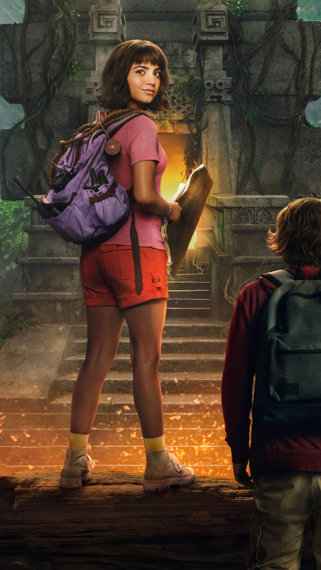 Wallpaper Dora And The Lost City Of Gold poster 4K Movies 640x1138