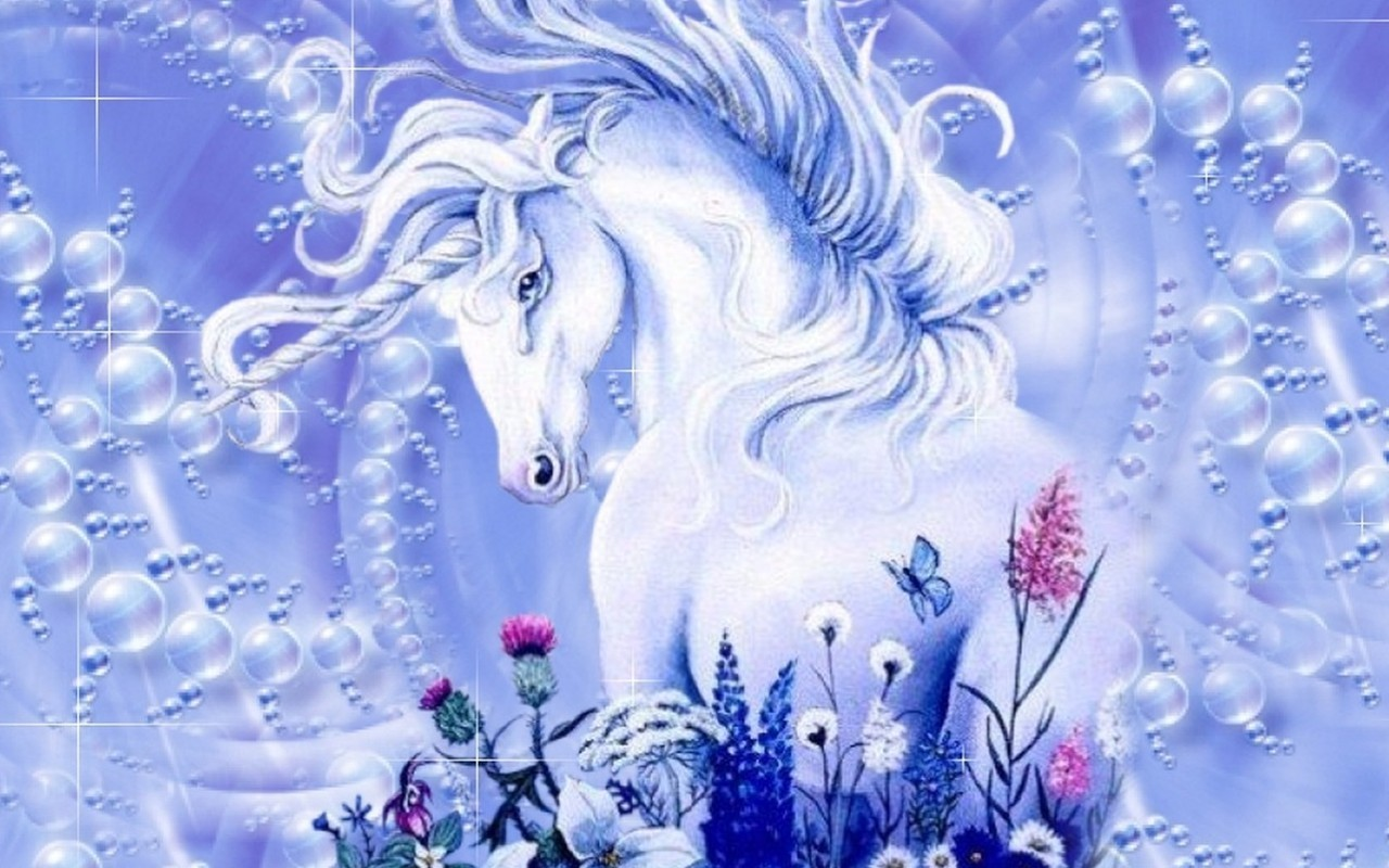 Unicorns   Magical Creatures Wallpaper 7842100 1280x800