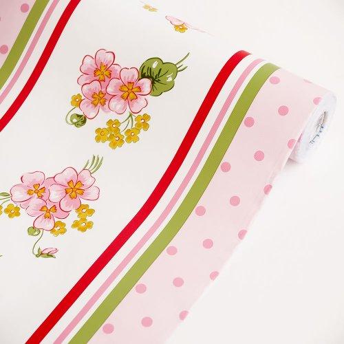 Flowing Flowers   Vinyl Self Adhesive Wallpaper Prepasted Wall 500x500