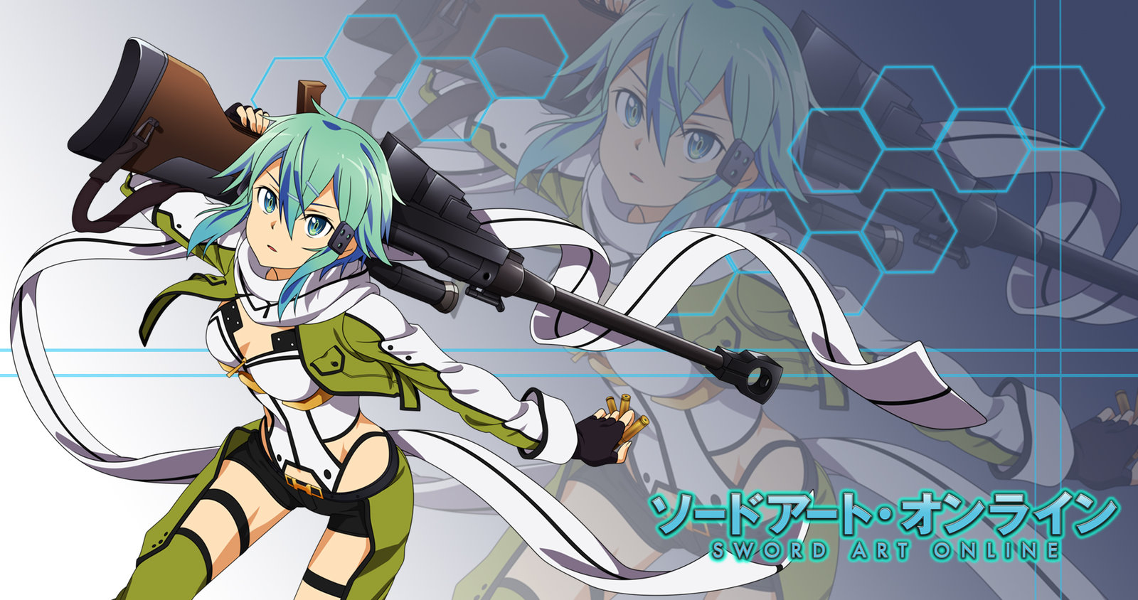 Anime Wallpaper Fan Made SAO II  Sinon by FiReptile 1600x844