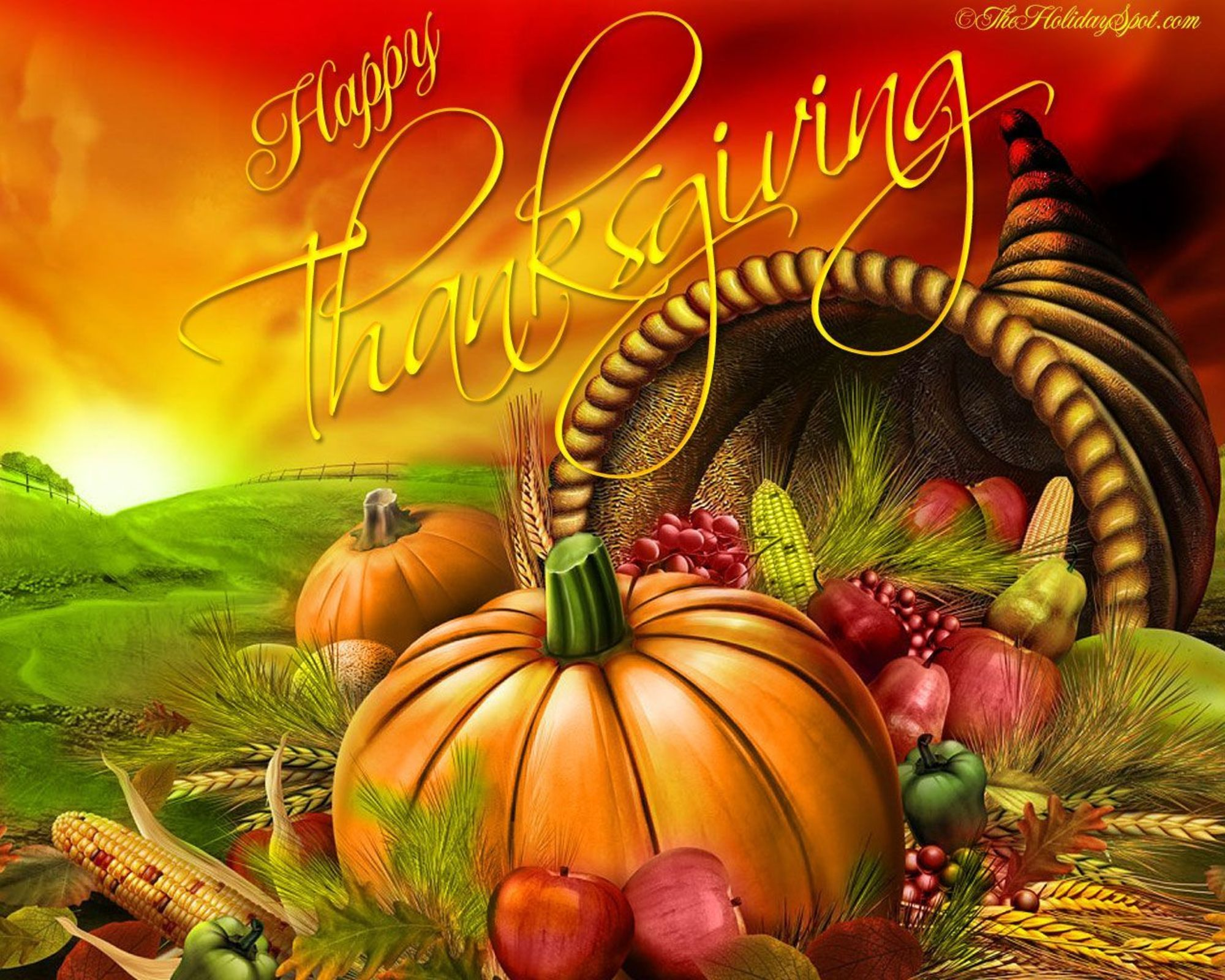 Happy Thanksgiving Wallpaper Background for Desktop 2000x1600