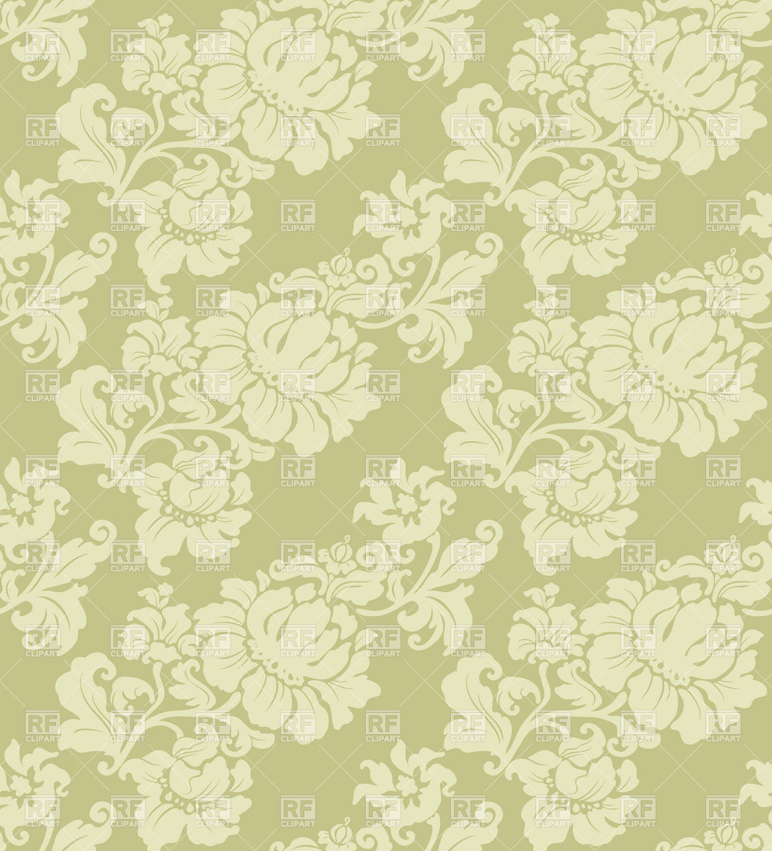 Free Download Seamless Floral Pattern Classic Wallpaper Vector