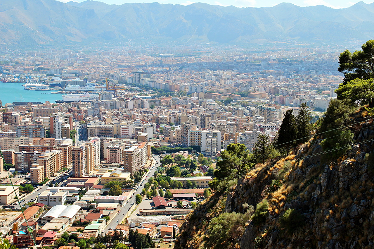 Photo Italy Palermo From above Cities Building 1280x851