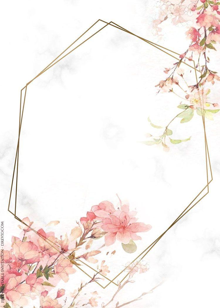 70 FREE PRINTABLES Vintage Floral Watercolor Invitation 750x1050
