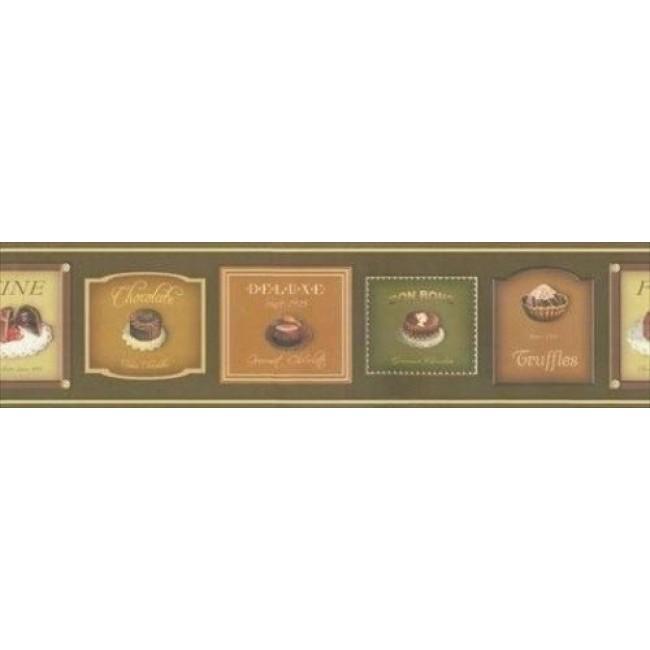 Chocolate Lovers Chocoholic Wallpaper Border 687820   All 4 Walls 650x650