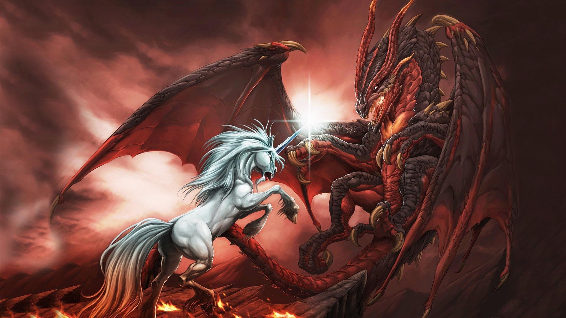 vs Dragon Dragon Art Wallpaper Design courant Taille 1920 x 1080 1920x1080