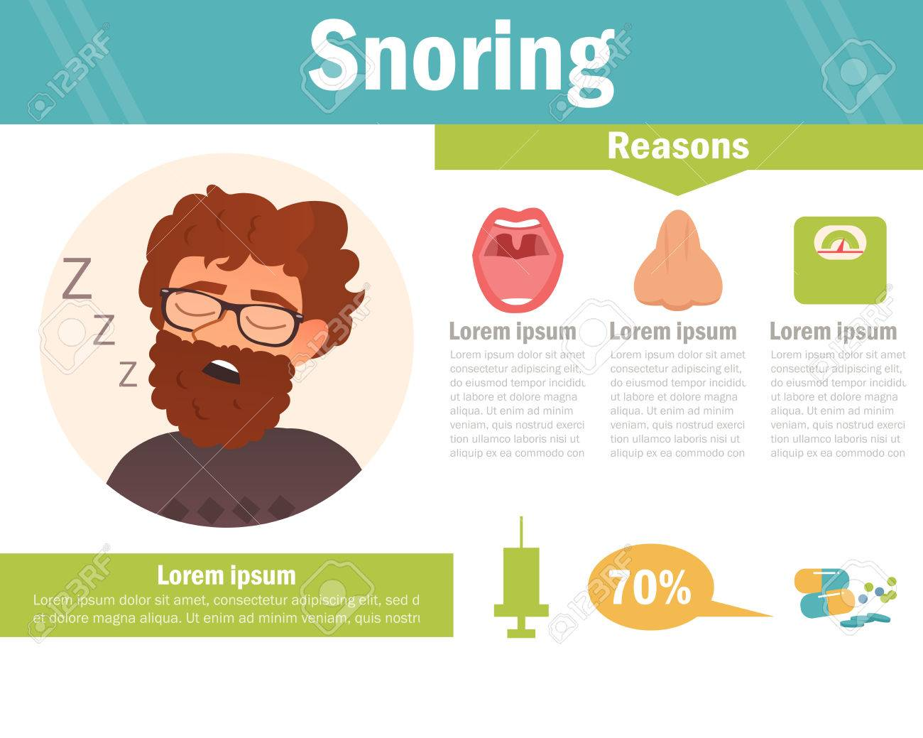 Snoring Vector Art On A White Background Royalty Cliparts 1300x1039