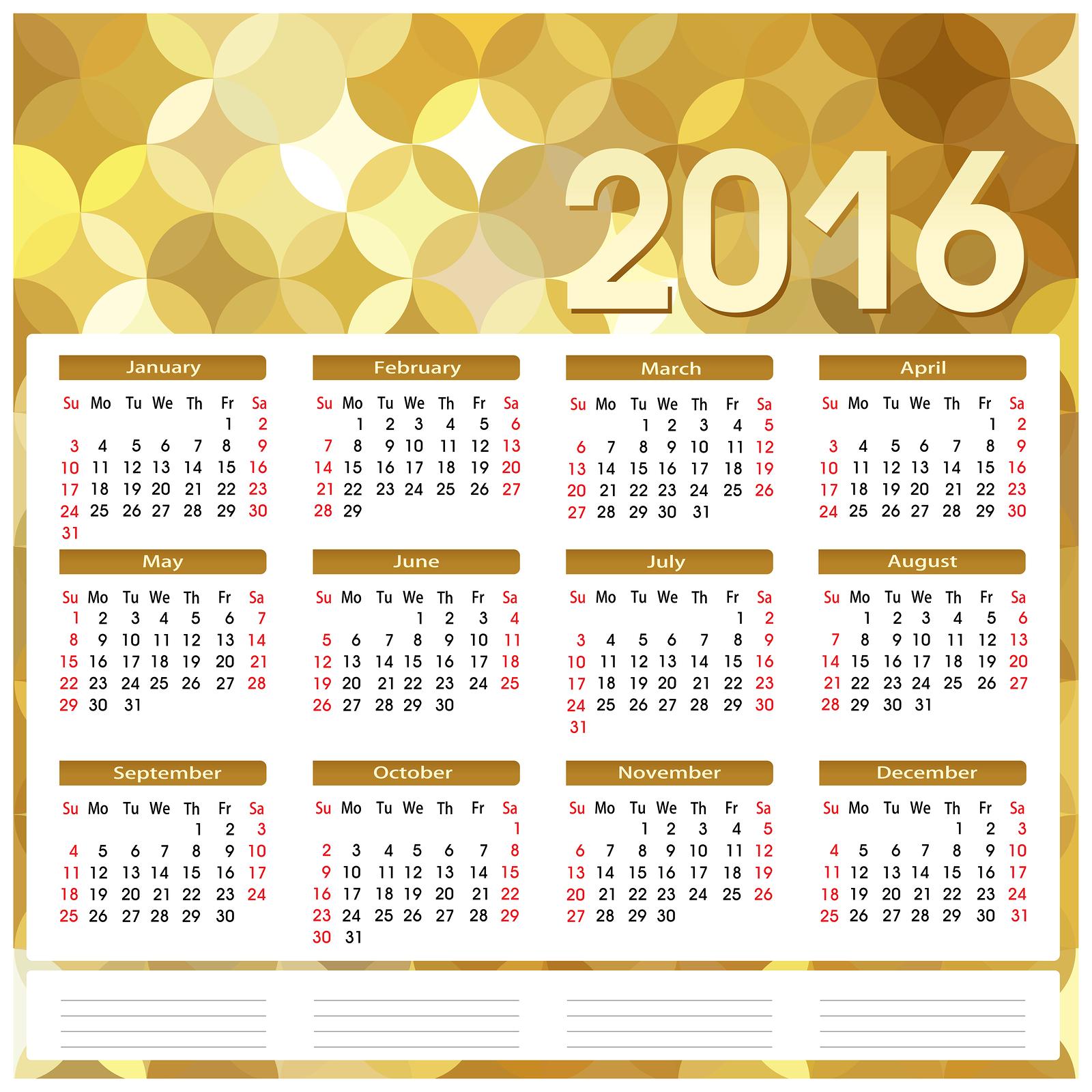 2016 Year Calendar Wallpaper Download 2016 Calendar by Month 1600x1600