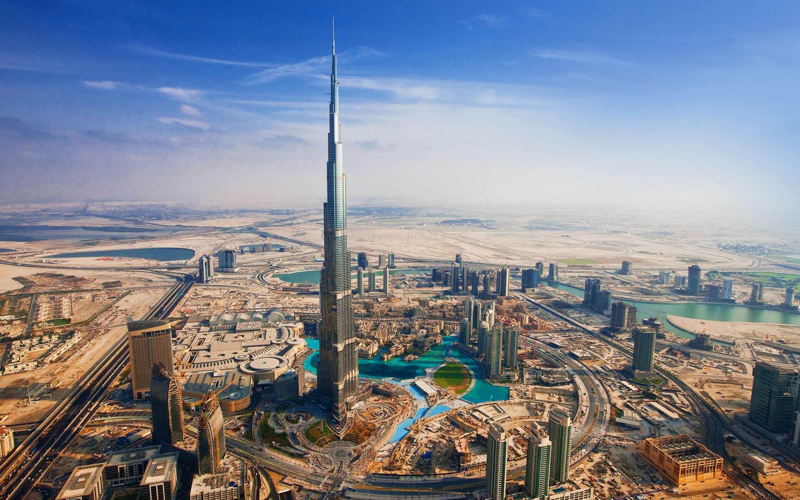 Burj Khalifa Dubai United Arab Emirates HD Wallpaper   HD Wallpapers 2560x1600
