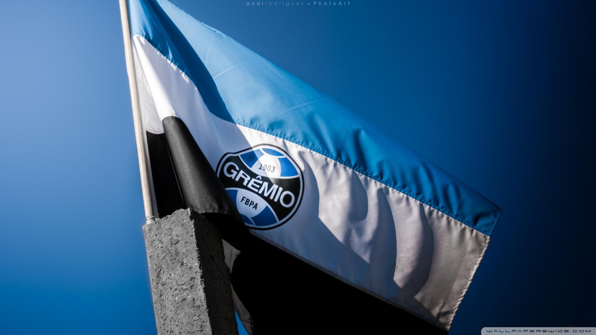 Flag Of Gremio Football Portoalegrense 4K HD Desktop Wallpaper 2048x1152