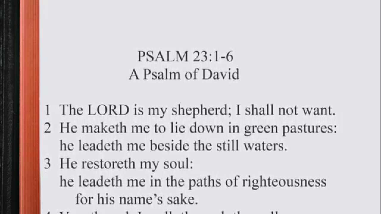 Psalm 23 1 Psalm 23 1 6 Scripture Song 1280x720