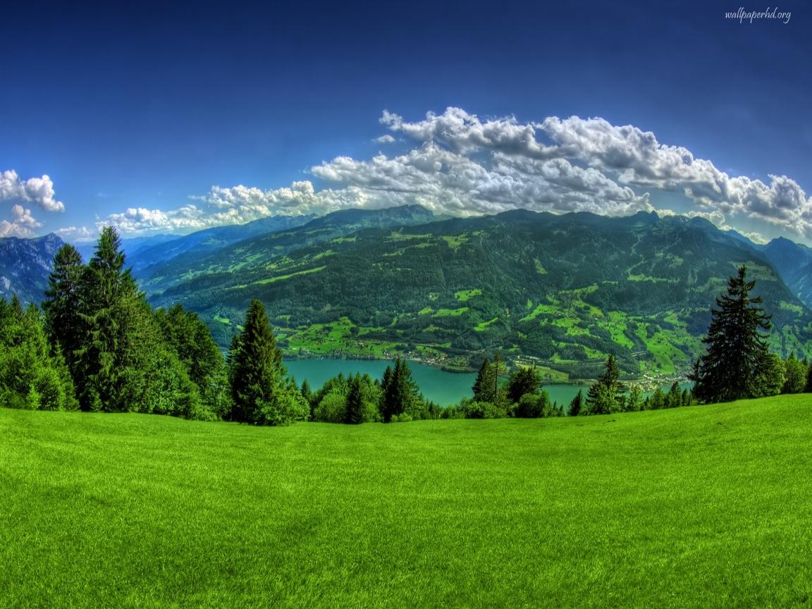 View Green Mountain Scenery on Top wallpaper Download Green Mountain 1152x864