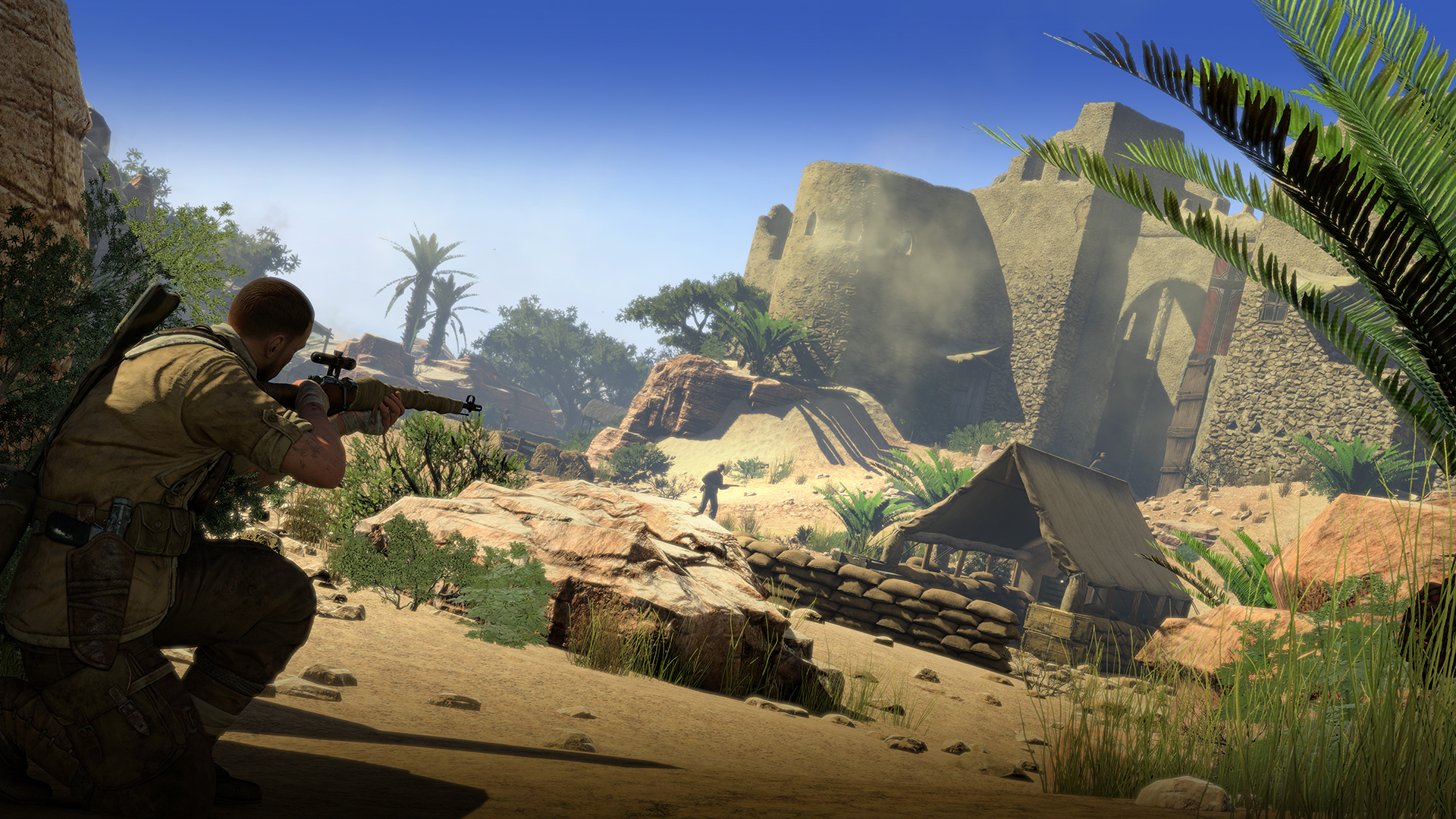 Sniper Elite III Afrika 2014 promotional art   MobyGames 1920x1080