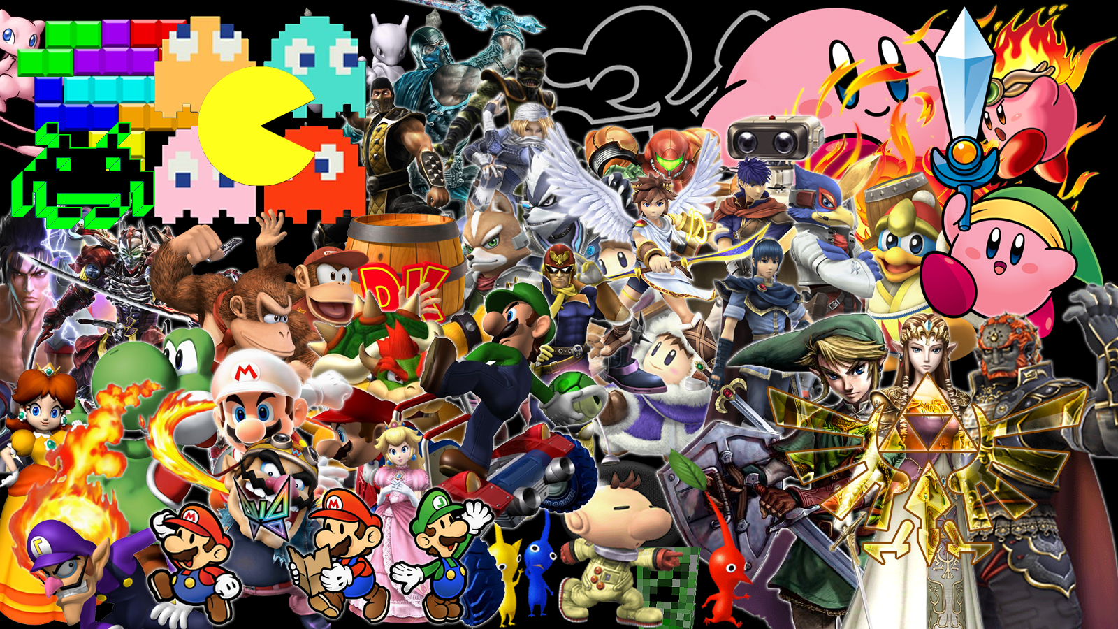 All Video Game Characters Wallpaper Video game characters 1600x900