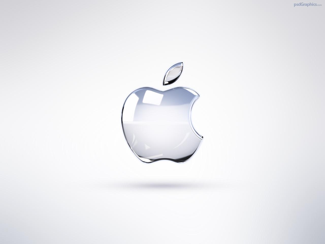 Bright Apple logo wallpaper PSDGraphics 1280x960