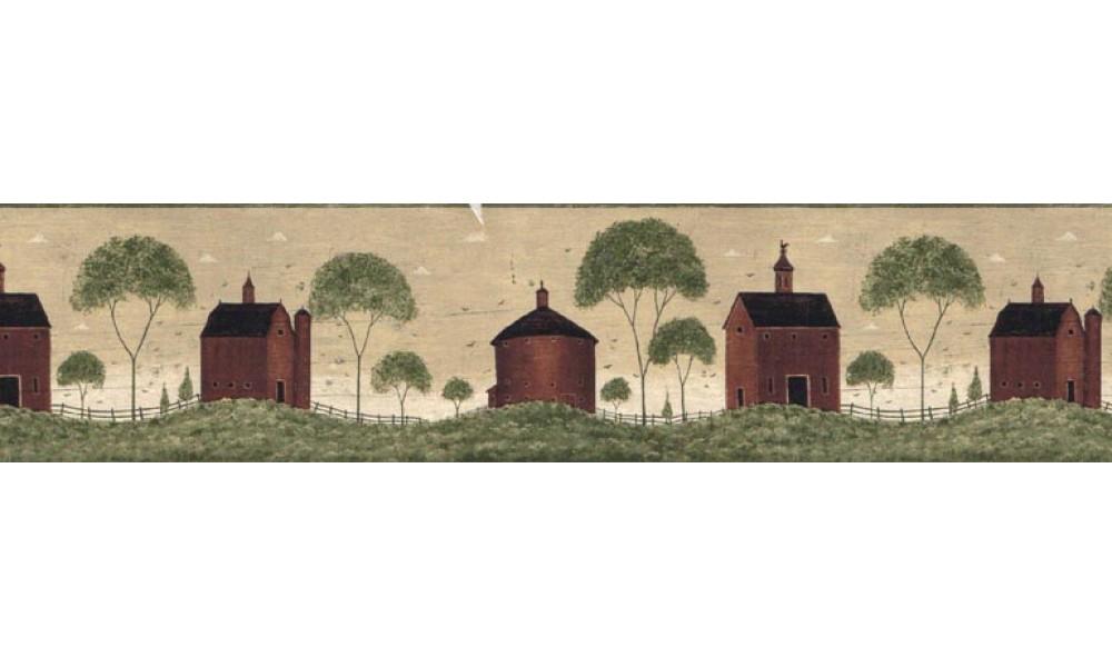 Country Wallpaper Border B74751 1000x600