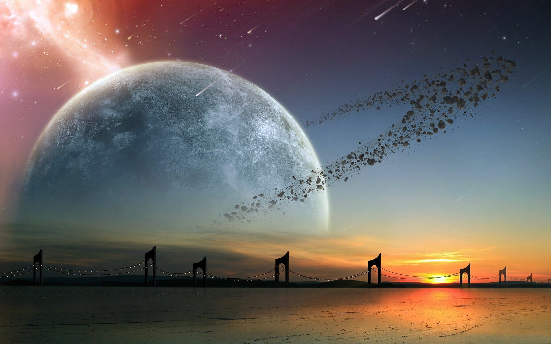 Alien Planet Landscapes Wallpaper - WallpaperSafari