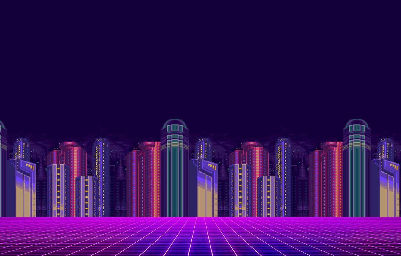 Wallpaper Minimalism The city Background Pixels 8bit 1332x850