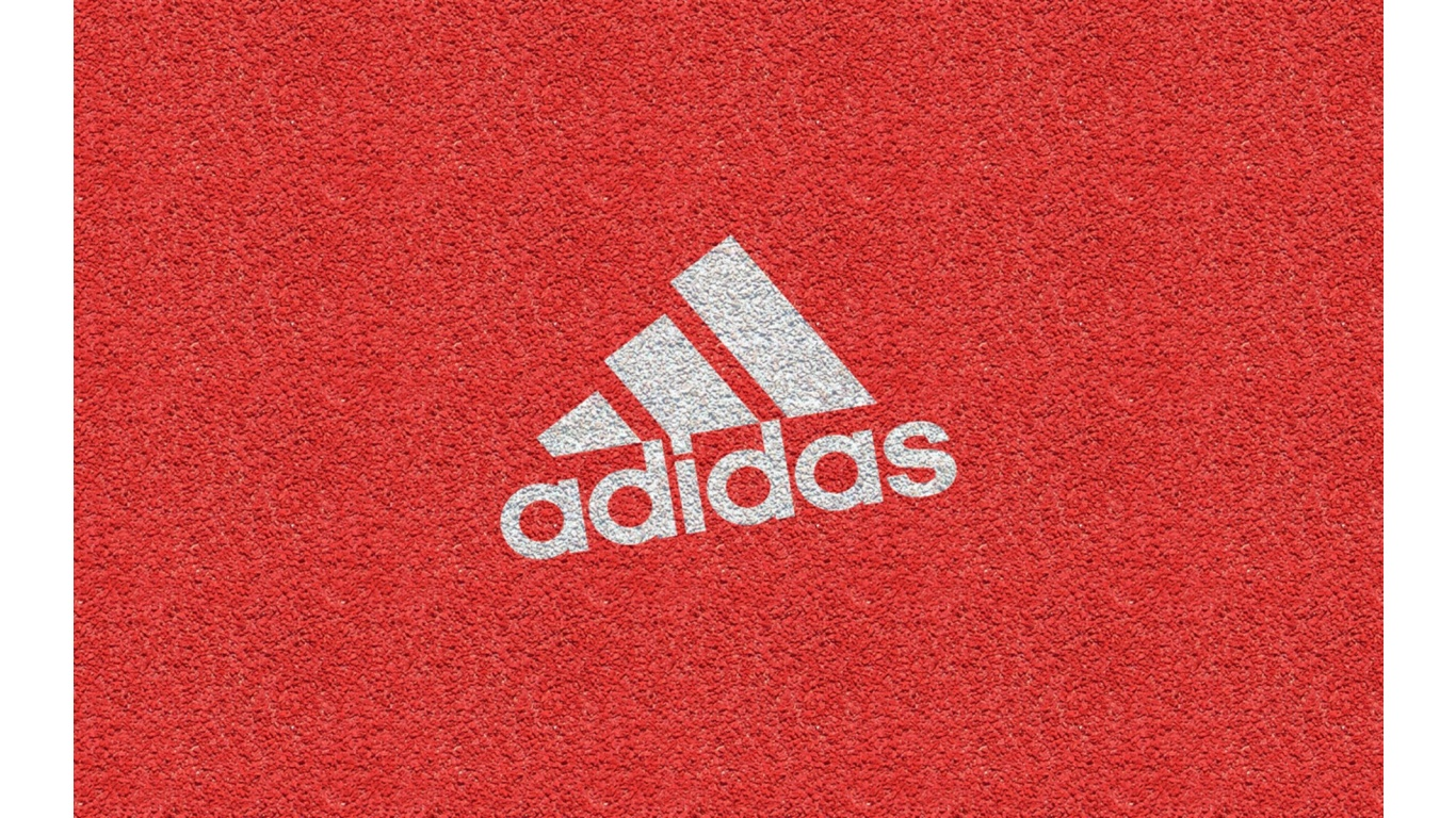 wallpaper adidas logo texture brand red pattern 1366x768