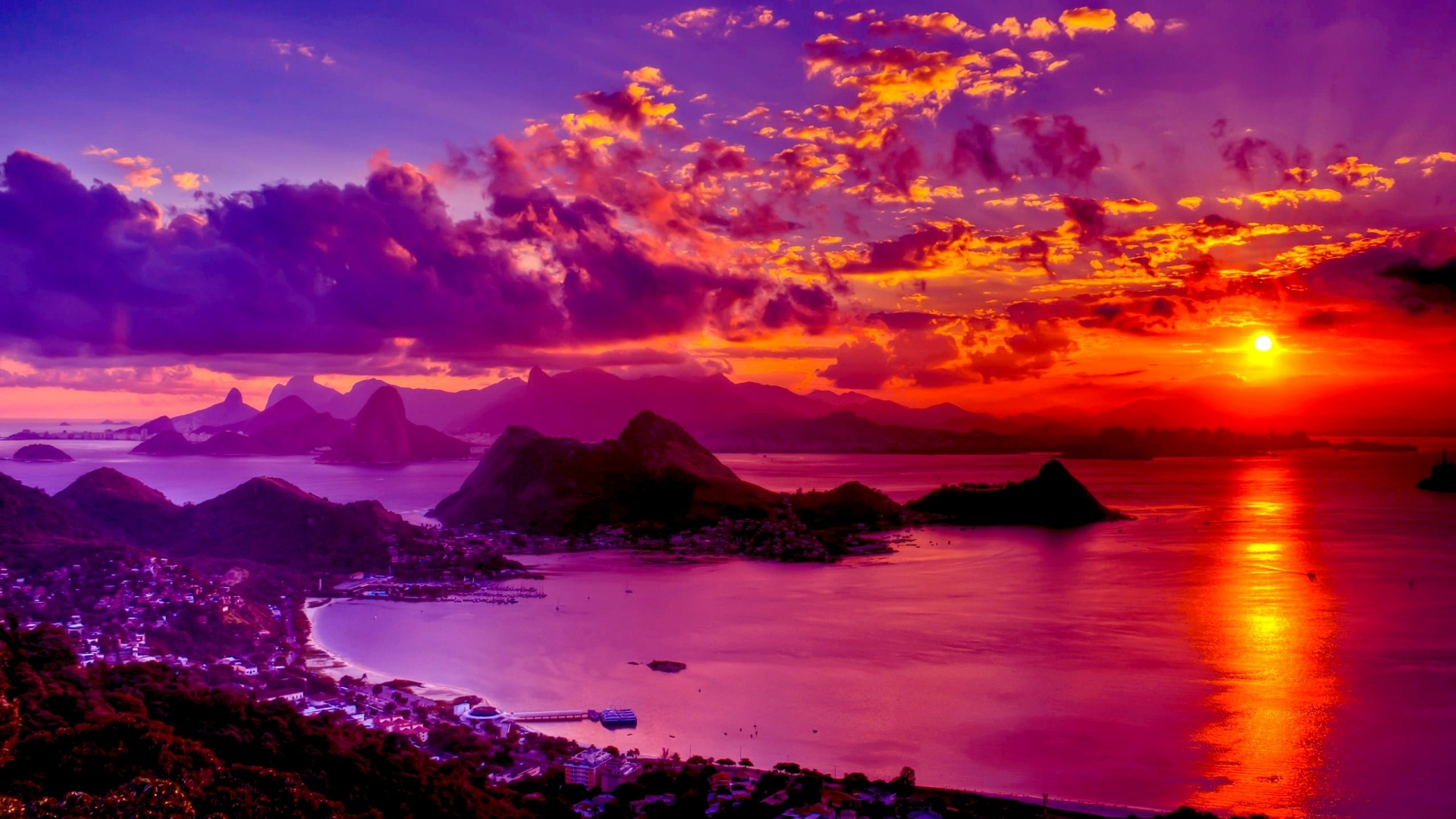 Fabulous Sunset Wide Wallpaper 550061 Wallpapers13com 1920x1080