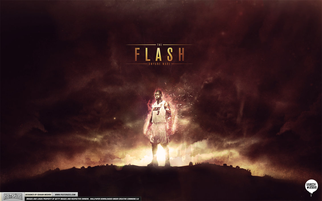 Dwyane Wade The Flash Wallpaper by IshaanMishra 1131x707