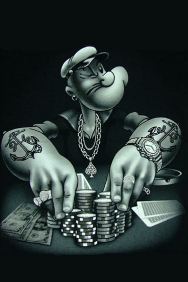 Gangster Popeye iPhone Wallpapers I Like Pinterest Gangsters 640x960