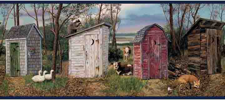 Country Outhouse Wallpaper Border   Wallpaper Border Wallpaper inc 720x320