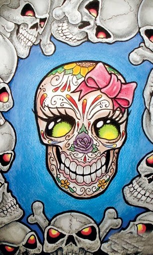 Girly Skull Live Wallpaper HD App for Android 307x512