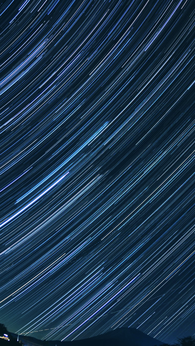 Star Trails Astrophotography iPhone 5 Wallpaper AHSP 2021